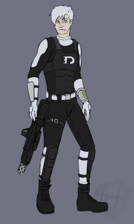 Day 06: Redesign I really like the idea of Danny is body armor with ecto-weapons, ok?! DX Also part of my own AU of a ghost-armageddon DP. Reference: http://kiristo.deviantart.com/art/Stock-Soldier-15-Cap-and-SMG-277439119?q=favby%3Akiristo%2F3948438&qo=3