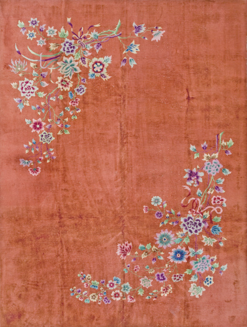 "Keyvan's Pick:#19944 antique Chinese Art Deco carpet 8'9"" x 11'7""circa 1920http://www.rahmanan.com/inventory/show/19944/"