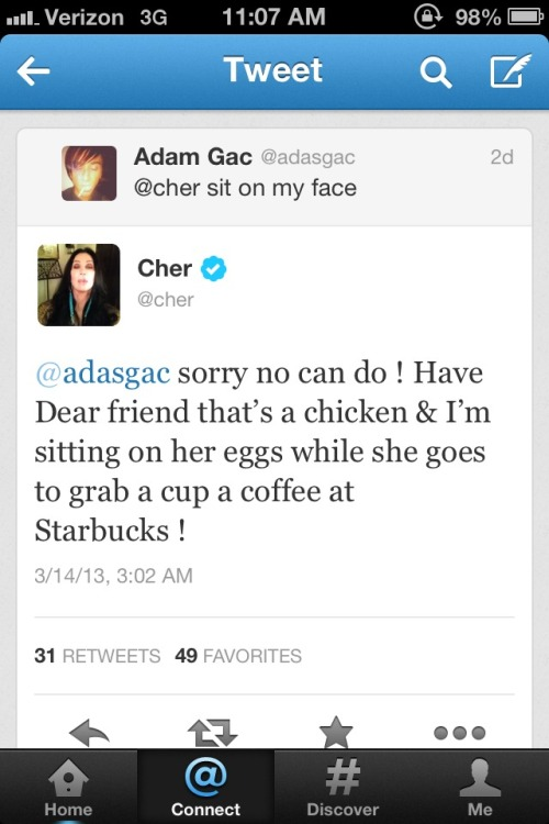 Cher is Twiter God
