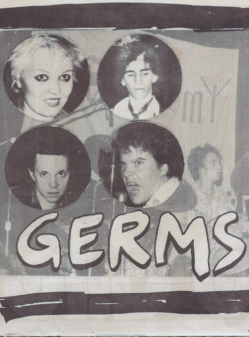 zombiesenelghetto:  The Germs, from Flipside Magazine calendar, 1979
