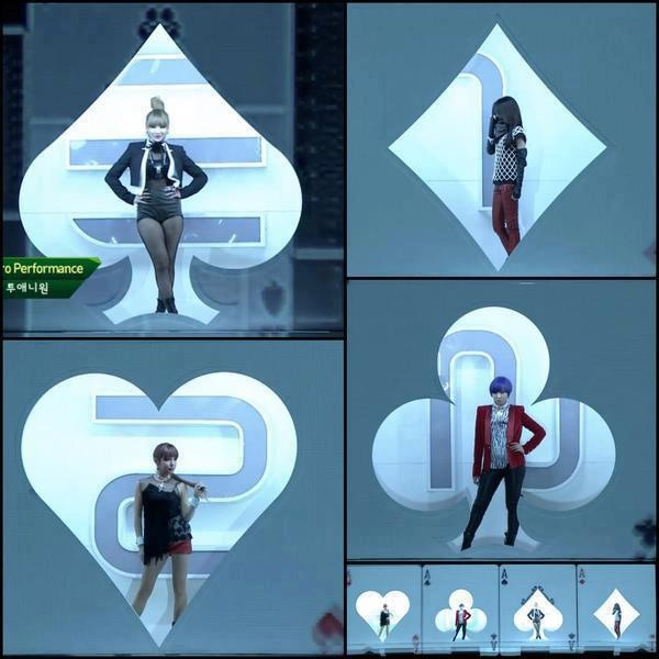 2NE1 - Intro + I Love You  2012 MelOn Music Awards http://youtu.be/7IK-lARS8mw
