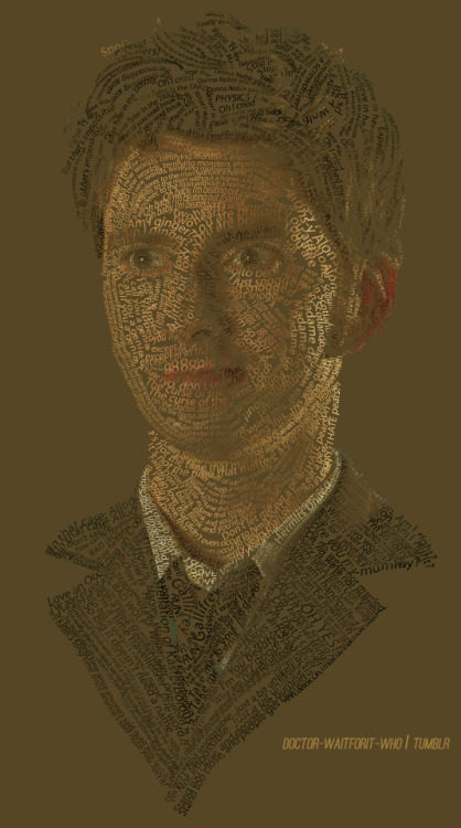 doctor-waitforit-who:   Typography Portrait of the Tenth Doctor  1/[10] male characters - Tenth Doctor - [fangirl challenge]