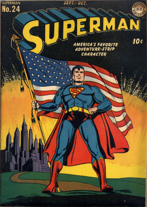 Superman #24, October 1943, cover by Jack Burnley