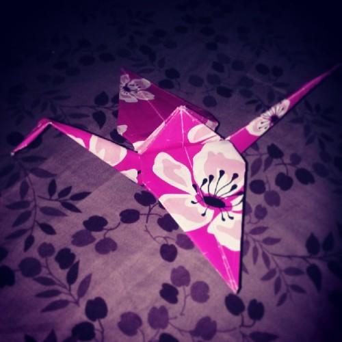 Yesss, finally did my first #origami #papercrane! #riaservellon