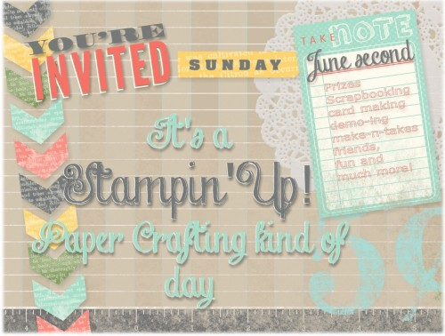 It's a Stampin' Up! Paper Crafting Kind of Day!Okay, so this event isn't in Toronto, but Guelph is kinda close!   Do you enjoy crafting?  I have…View Post