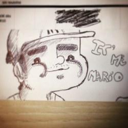Young #Mario ! Sketch made at work ! #Nintendo