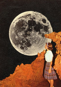 feru-leru:  Hey Moon by Collage al Infinito by Trasvorder on Flickr.