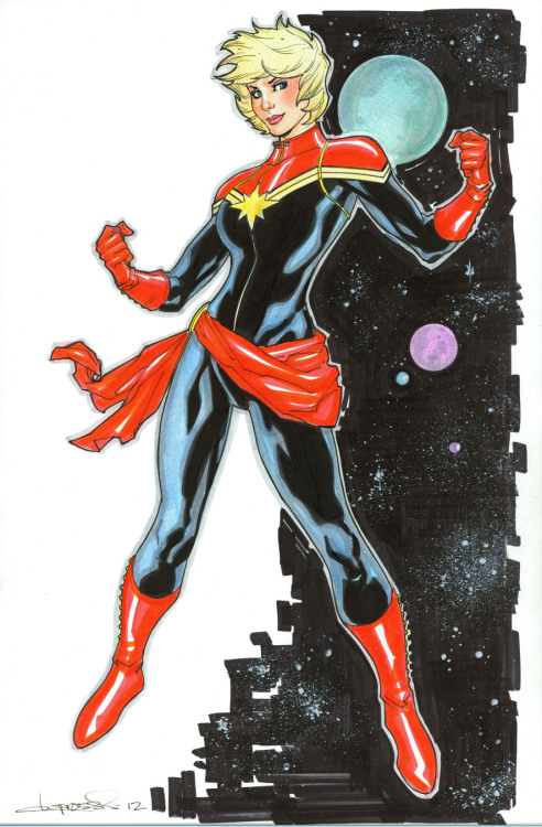 keaneoncomics:  New Captain Marvel by *aaronlopresti