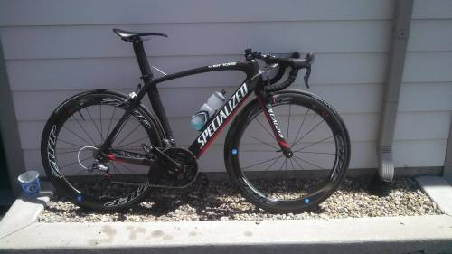 slamthatstem:  My teammate Zach went to collegiate nats and this is what he rocked in the TTT. Cuz collegiate TTTs don't allow TT bars, so he got LOW on a teammate's Venge.  DIALED