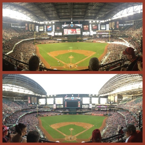 Chase Field: where indoor baseball can become outdoor baseball in 5 minutes or less.