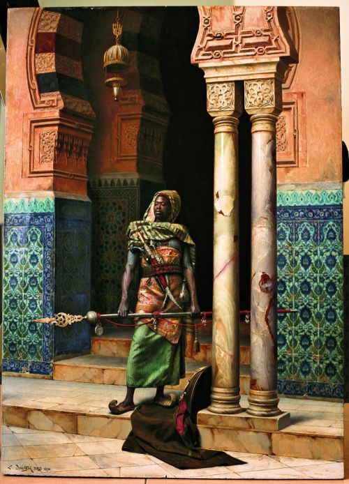 cavetocanvas: Ludwig Deutsch, The Nubian Guard, 1896