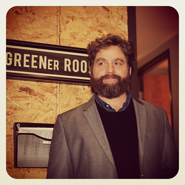 Zach Galifianakis backstage.  #CONAN #TheHangover  (at Warner Bros Stage 15)