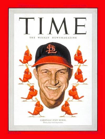 Stan Musial (1920-2013) on the Sept. 5, 1949 cover of TIME magazine.