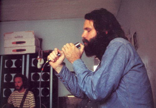 Jim Morrison and Robby Krieger of the Doors