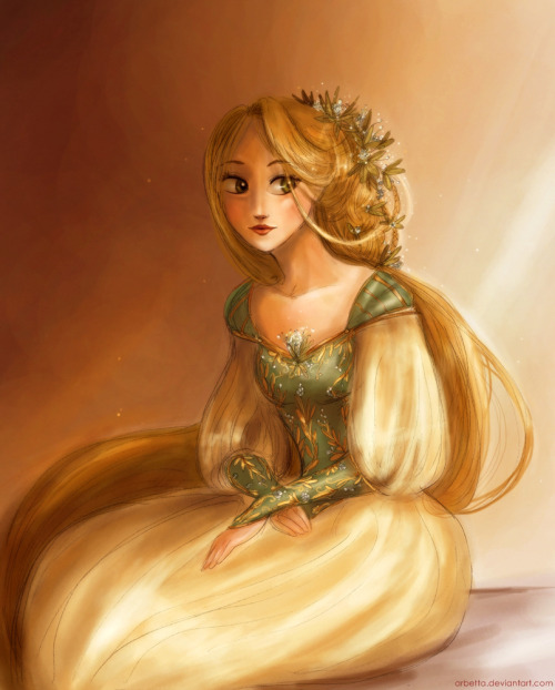 Old drawing of princess Rapunzel I miss her sometimes ;)