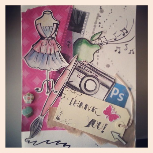 Gorgeous hand made card for the art dept from @gianneamparo…we love it :D