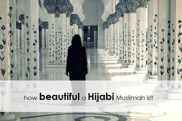 "wethemuslims:  Anyone who says ""Hijab is against beauty"", they mix up between the meaning of ""beauty"" and ""charms"" of a woman.  Hijab doesn't cover the beauty of a woman…In fact it increases it.  Hijab does cover the charms of a Muslimah and not her beauty,because the beauty of a woman lies in her Hayaa and good manners…  It doesn't lie in red lipstick or in blue eyes and beautiful face or body !!  We may find a woman who wears her full Islamic Hijab but she captures people's hearts by the beauty of her soul !!  And we may find a woman who wears inappropriate clothes but the light of her beauty, which attracted eyes to her body, will soon extinguish.   And as they say : ""a beautiful woman who displays her charms, may attract a man to her body for an hour,but a chaste decent woman would capture his heart for his entire life!"""