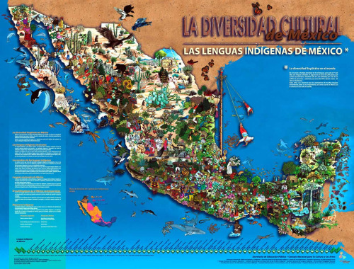 thinkmexican:  Mexico's Indigenous Languages February 21 is International Mother Language Day as declared by UNESCO to promote awareness of multilingualism, cultural and linguistic diversity. This day is also an important time to celebrate indigenous languages. Here are important facts about Mexico's indigenous languages: - There are 68 indigenous languages, including 364 regional varieties (dialects), spoken in Mexico. - According to a 2010 census report, Mexico has 6, 913,362 native speakers of an indigenous language. - 6.6% of Mexico's total population speaks an indigenous language. - Oaxaca is the most linguistically diverse state of Mexico with 15 distinct indigenous languages, and 179 varieties of these languages. Also, 31% of the state's population speaks an indigenous language, the highest in the nation. - Nahuatl is the most spoken indigenous language of Mexico with 1,544,968 native speakers. - Maya (796,113), Mixteco (471,710), Zapoteco (425,123), Otomi (284,992), Totonaco (244,033), Mazateco (223,073) all have more than 200,00 native speakers. - Huasteco (161,121), Chinanteco (131,382), Mazahua (135,897), Mixe (132,759), Purépecha (124,494), Tlapaneco (120,072) all have more than 100,00 native speakers. - Despite much being said about languages dying out in Mexico, the total numbers of native language speakers is increasing. - Indigenous speakers have been emigrating in larger numbers to the United States. In California alone, there are 23 indigenous languages from 13 Mexican states registered by INALI. Stay Connected: Twitter | Facebook