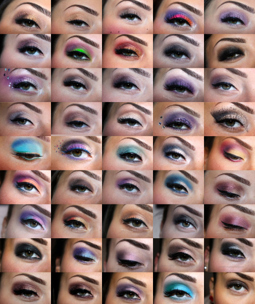 makeup collage of all my makeup done in 2012. hope you like it. please tell me your favorite <3