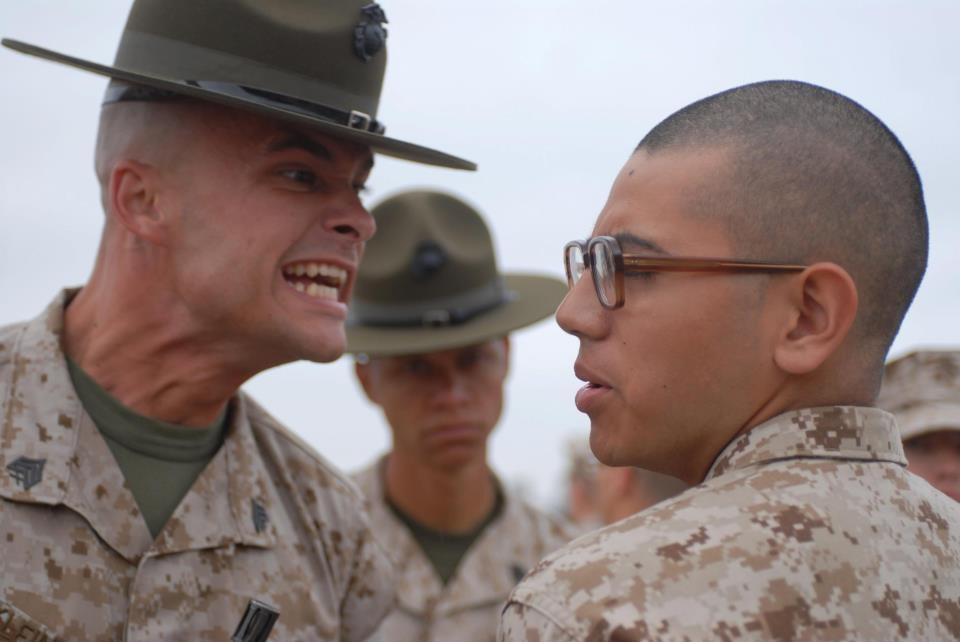"thelemonpoet:  ""Give me your WAR FACE!"" From the USMC Facebook page."