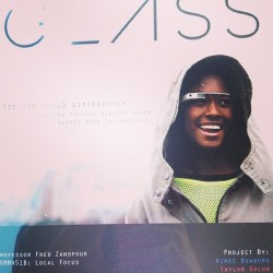 Our #google #glass #project is done! #illustrator #photoshop #indesign #designedbyme (at Kinkos)