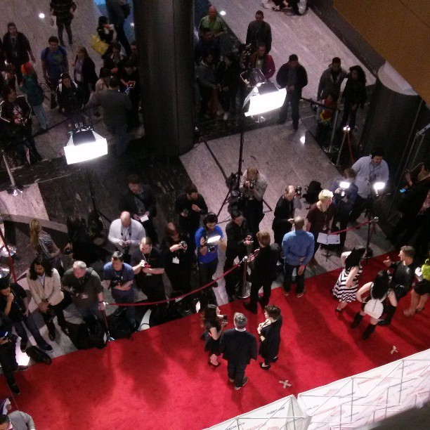 #cvga red carpet from above.