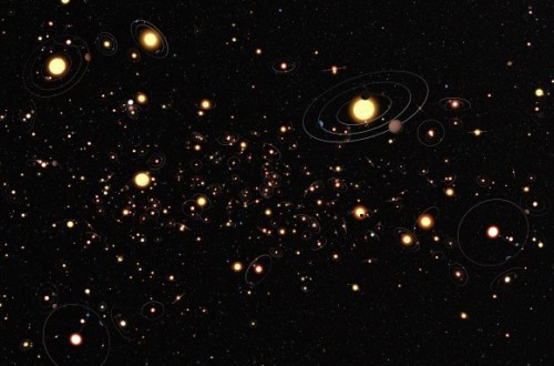 "60 billion habitable planets in the Milky Way alone? Astronomers say yes!  A new study suggests that the number of habitable exoplanets within the Milky Way alone may reach 60 billion. Previous research performed by a team at Harvard University suggested that there is one Earth-sized planet in the habitable zone of each red dwarf star. But researchers at the University of Chicago and Northwestern University have now extended the habitable zone and doubled this estimate. The research team, lead by Dr. Jun Yang considered one more variable in their calculations: cloud cover. Most exoplanets are tidally locked to their host stars – one hemisphere continually faces the star, while one continuously faces away. These tidally locked planets have a permanent dayside and a permanent nightside. One would expect the temperature gradient between the two to be very high, as the dayside is continuously receiving stellar flux, while the nightside is always in darkness. Computer simulations that take into account cloud cover show that this is not the case. The dayside is covered by clouds, which lead to a ""stabilizing cloud feedback"" on climate.  It has a higher cloud albedo (more light is reflected off the clouds) and a lower greenhouse effect. The presence of clouds actually causes the dayside to be much cooler than expected. ""Tidally locked planets have low enough surface temperatures to be habitable,"" explains Jang in his recently published paper. Cloud cover is so effective it even exte"