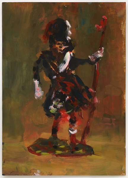 Paul Housley Black Guard mixed media on paper 11.81 x 8.26 inches VIA MORE