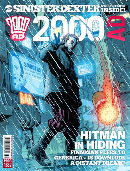 This week's zarjaz prog 1832 is now available from our online shop and on your iPad or phone from the app store. As you can see from this cover by Cliff Robinson and Dylan Teague,this prog sees the return of Downlode's own Finnegan Rapunzel Sinister,but where is his partner in crime,Dexter?You'll have to buy the comic to find out!!