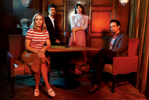 Mary Poppins Returns star Emily Blunt, Lin-Manuel Miranda, Emily Mortimer and Ben Whishaw photographed by Irvin Rivera for The Wrap. #lin manuel miranda #emily blunt#ben whishaw#emily mortimer #mary poppins returns #the wrap#photoshoot#irvin rivera