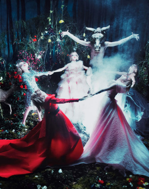 red-lipstick:  Steven Meisel - Spellbound for W magazine, September 2012 issue.