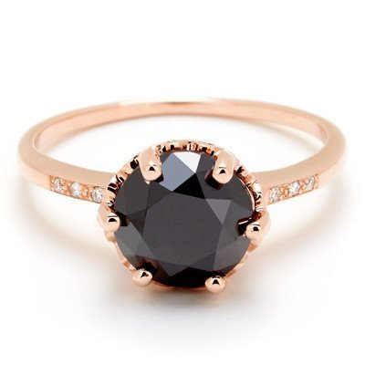 Hazeline Black Diamond Ring by Anna Sheffield