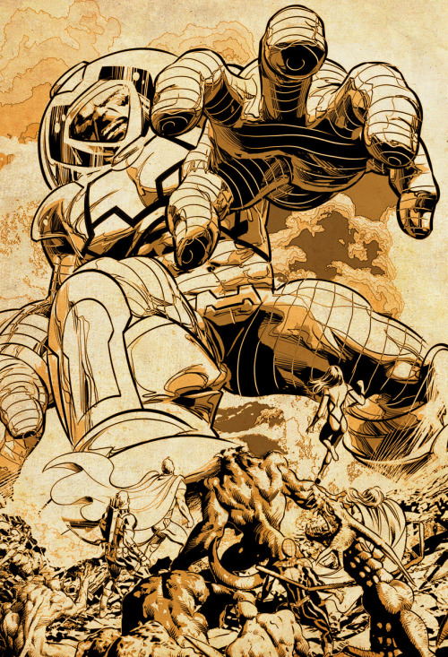 "Mike Deodato illustrates ""Avengers"" #13 featuring the return of Terminus!"
