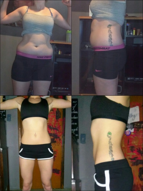 beforeandafterfatlosspics:  haileegetsfit 11 Months of hard work and dedication. I went from a size 9-10 to a size 1-3. Never say you can't, because if I can do it so can you! If you have any questions please feel free to ask/follow me @ haileegetsfit.tumblr.com
