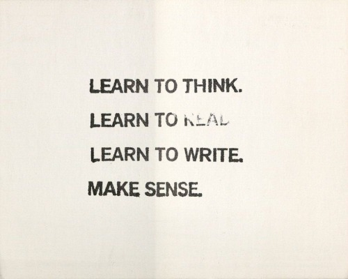 jndevereux:  momalibrary:  John Baldessari - Four Rules (1978) -ds  To-do list.   Filed under: Baldessari