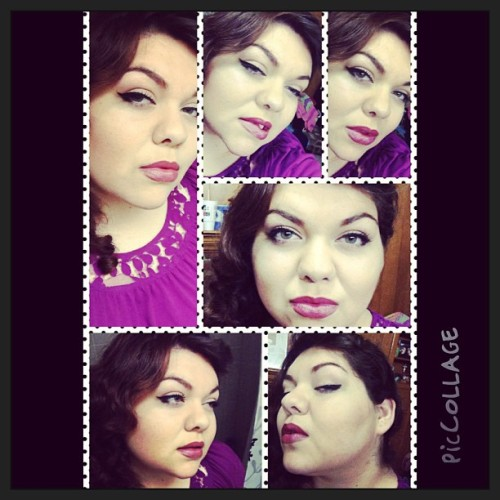 Pin up makeup 1 #selfies #boredom #makeup #pinup