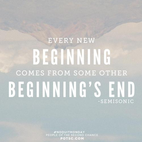 staypozitive:  After every ending, there is a new beginning. Go here to find more encouragement.