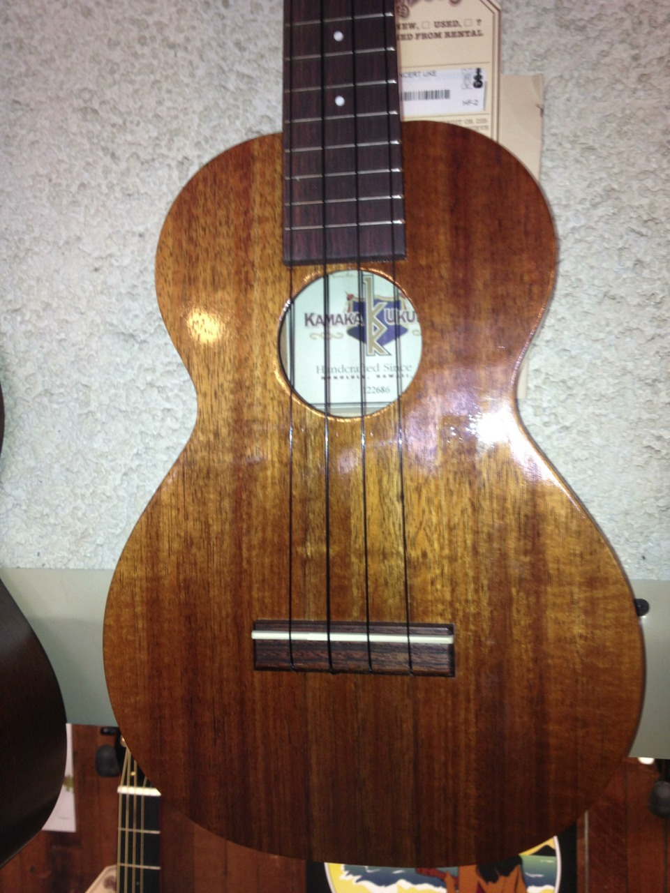 Kamaka Concert HF-2 New w/Case Made in Hawaii Price: $1045.00