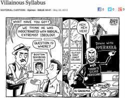theonion:  Villainous Syllabus: More Editorial Cartoons  omg al-qaedemia i'm dying