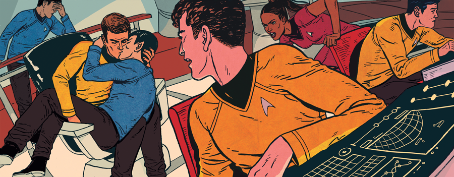 "patrickleger:  Set phasers to ""sexy"" A new piece for The Washingon Post about Star Trek and the world of fanfiction. You can read the article here. bravestcomix i cant even….this is just TOO fabulous"