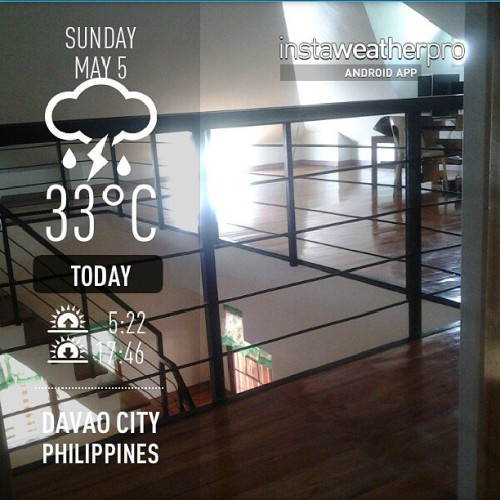 Seemingly a cloudy but hot day. Phew. #instaweather #android #instaphoto  (at Pampanga Executive Homes)