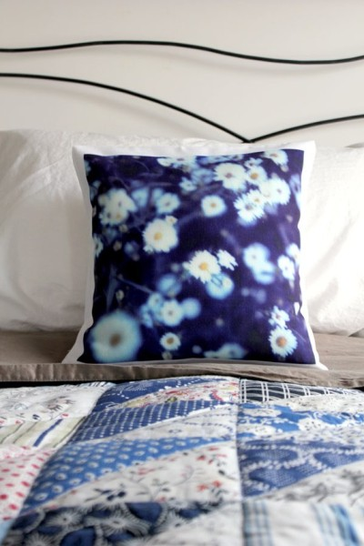 """Botanical in Blue"" Pillow Case by jerseymaids"