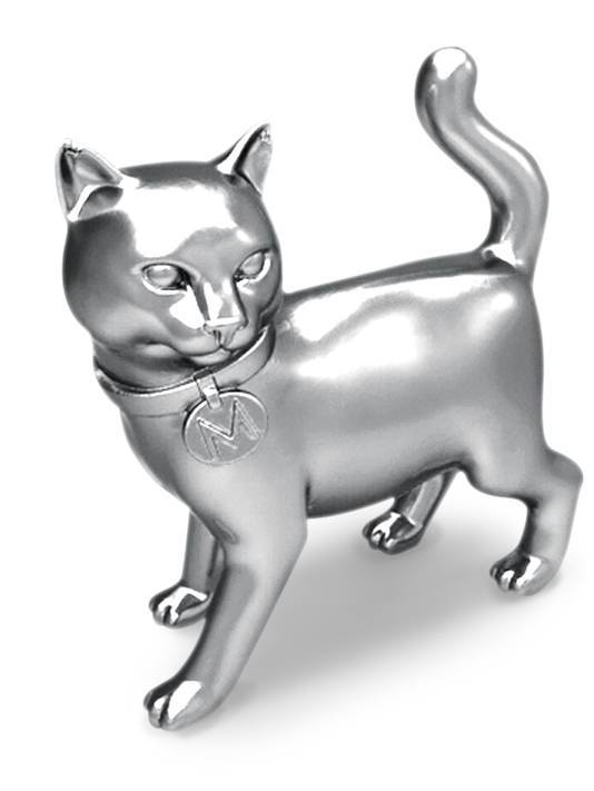 "Monopoly News: Iron Out, Cat In The iron token that has existed since the 1930's is now retiring and being replaced by a cat. Hasbro ran a ""Save Your Token,"" campaign in which people voted for which token should stay in the Monopoly board game series. The iron only got 8% of votes from 185 different countries in the world. Ouch… I guess it's time to modernize this timeless board game by adding a cat to it. The Internet agrees, as voting for a cat token replacement beat out a potential toy robot, guitar, helicopter and diamond ring.  Next month, a ""Golden Token"" Monopoly will be sold exclusively at Target for $17.99, which will feature the last appearance of the iron token, as well as the five other proposed tokens. Check it: More Monopoly on AlbotasBuy it: Monopoly Classic Edition"