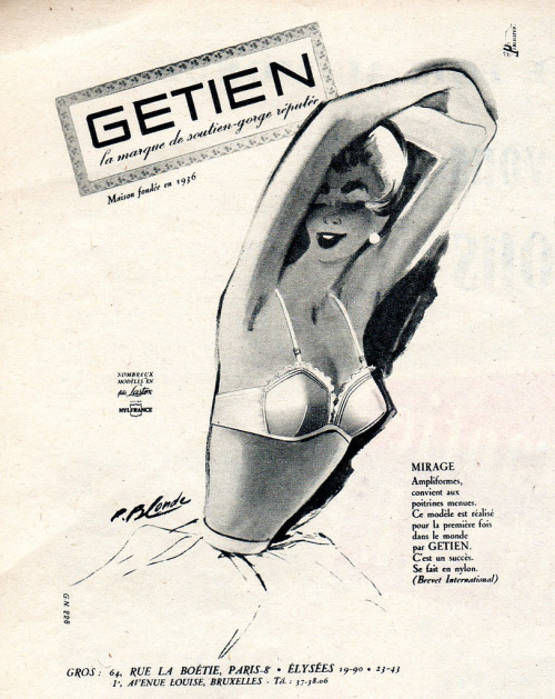 The 1950s-1956 ad for Getien bras (by april-mo)