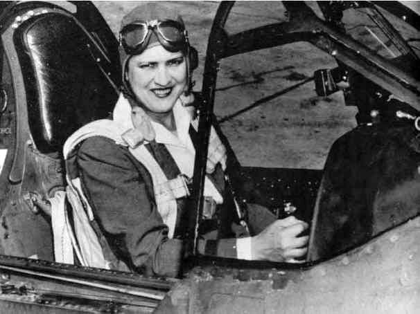 Here is Jacqueline Cochran, one of the most renowned female pilots in the early 20th century. She was the first woman to break the sound barrier and the first woman to fly a bomber across the Atlantic, among other accomplishments.   At the time of Cochran's death on Aug. 9, 1980, she held more international speed, distance and altitude records than any other pilot, male or female.  Happy Women's History Month!