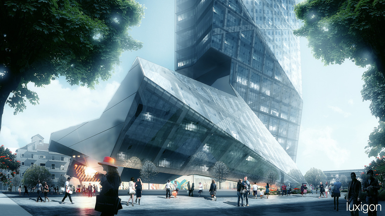 #ARCHITECTURE #RENDERINGS Hanking Center | Luxigon Mastering Autodesk Viz Render 2006: A Resource For Autodesk Architecural Desktop Users 9 new from $47.96 16 used from $8.72 SOURCE | 12.05.2013 | 14.13 High resolution renderings (showcase) http://www.skyscrapercity.com/showthread.php?t=1141539
