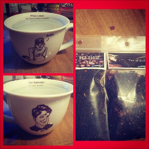 birthday #drhorrible tea and cup from the lovely @awesomeava :D