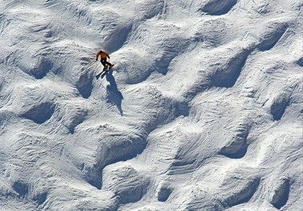 A little known winter fact: ski moguls, those tricky-to-navigate bumps on well-traveled runs, actually migrate slowly uphill. David Bahr, an avid skier and professor of physics and computational sciences at Colorado's Regis University, had suspected for some time that the moguls he slalomed moved up the mountain, so he tested the theory. Check out the full story here.
