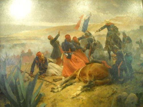 Mexican forces give the what-what to French zouaves at the Battle of Puebla. May 5, 1862.  (via)