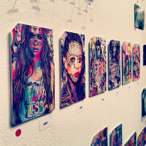 kerrynyc:  My artwork at the Single Fare 3 gallery show in TriBeCa.